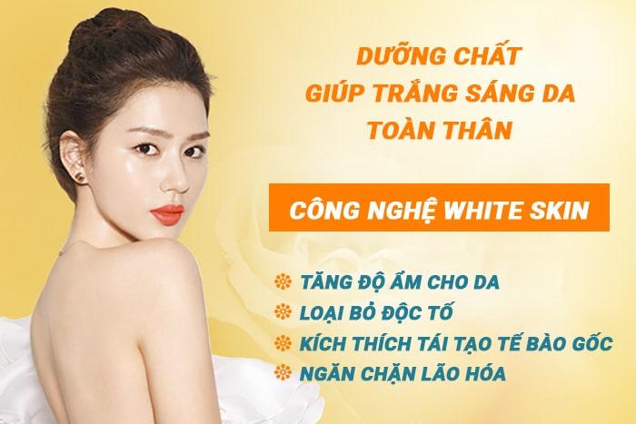 Trẻ hóa trắng sáng da toàn thân White Skin