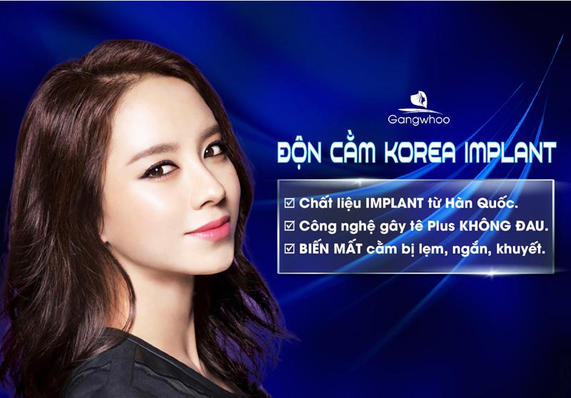 Độn cằm korea implant