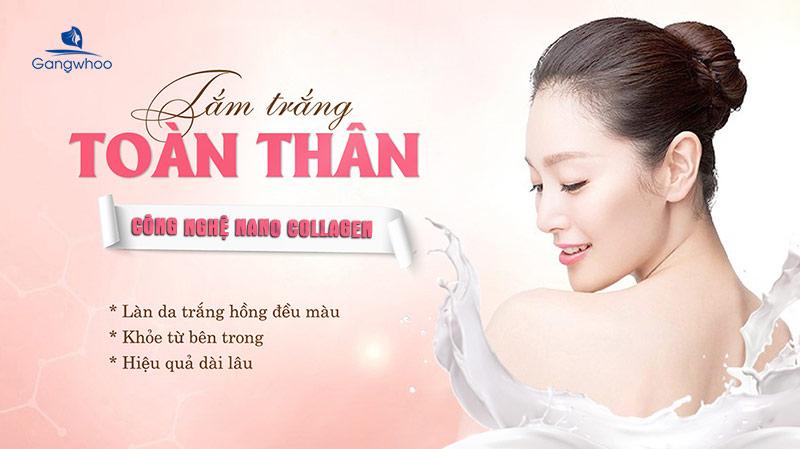 Tắm trắng Nano Collagen