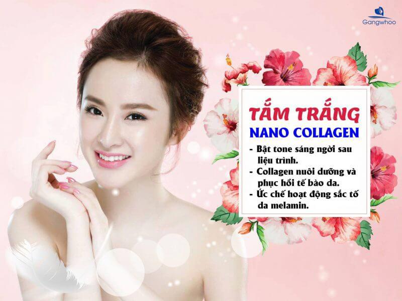 Tắm Trắng Nano Collagen Bức Phá Công Nghệ Trắng Da Tự Nhiên