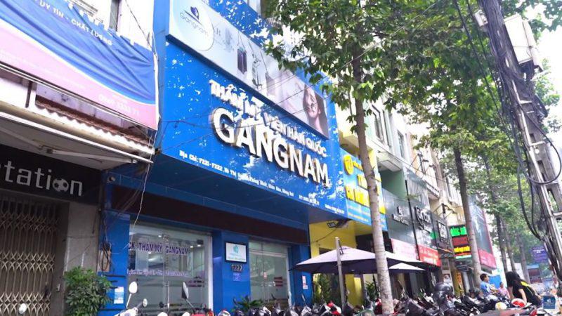 Thẩm mỹ viện Gangnam, số F222, đường Võ Thị Sáu, phường Thống Nhất, thành phố Biên Hòa, tỉnh Đồng Nai.