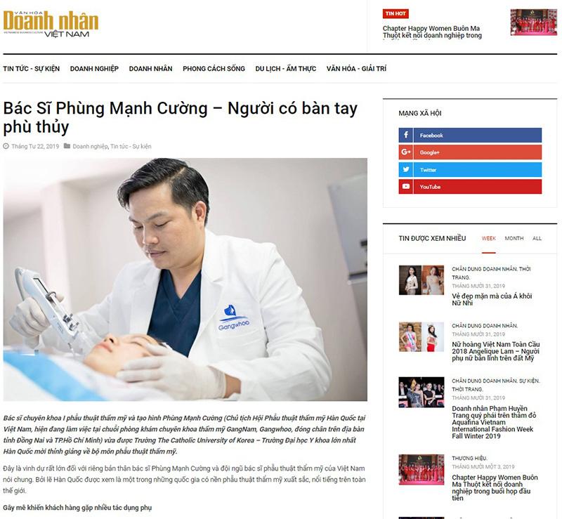 Báo Văn Hóa Doanh Nhân Việt Nam