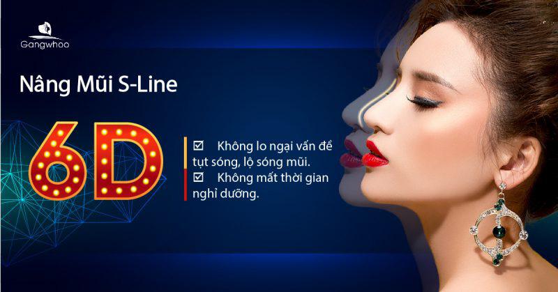 NÂNG MŨI SLINE 6D