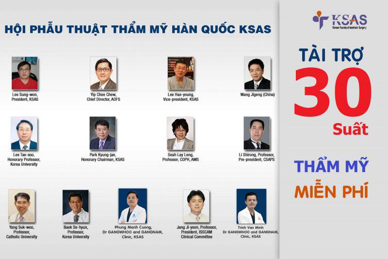 Hội Phẫu thuật thẩm mỹ Hàn Quốc KSAS tài trợ 30 suất phẫu thuật thẩm mỹ miễn phí