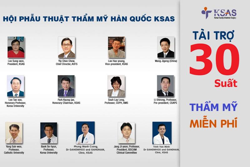 Hội Phẫu thuật thẩm mỹ Hàn Quốc KSAS tài trợ 30 suất phẫu thuật thẩm mỹ miễn phí.