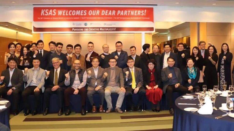 bác sĩ Cường tại hội nghị ở Hàn Quốc