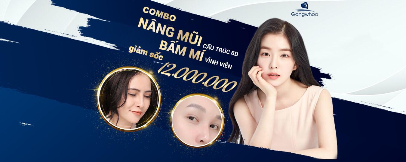Combo nâng mũi bấm mí tại TMV Gangwhoo