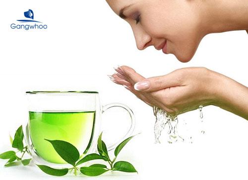 Trị da đầu nhờn bằng trà xanh