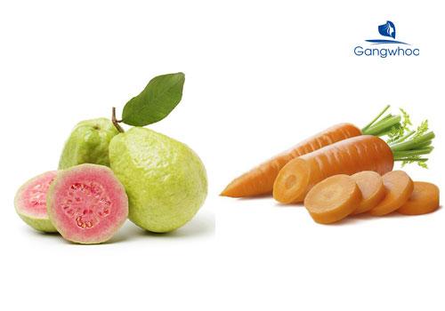 cách đắp vitamin E với ổi và cà rốt