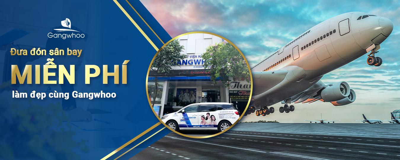 thẩm mỹ viện Gangwhoo đưa đón miễn phí tại sân bay