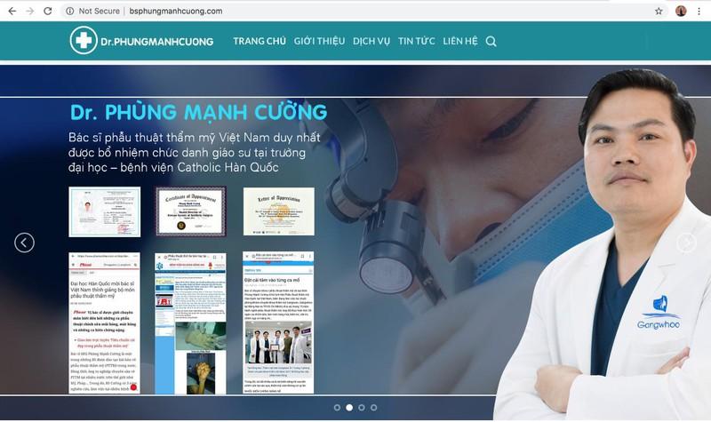 Bác sĩ Phùng Mạnh Cường là giáo sư thỉnh giảng về phẫu thuật thẩm mỹ tại Hàn Quốc
