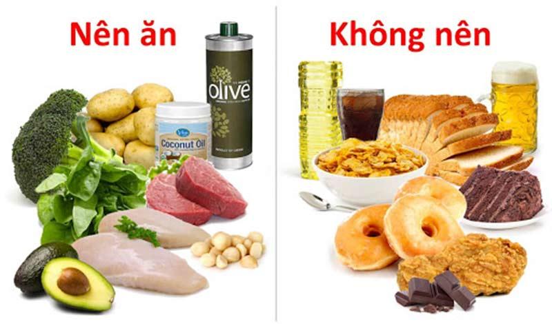 chọn lựa thực phẩm là một trong các cách giúp giảm mỡ bụng hiệu quả