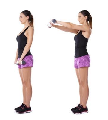 tập luyện với tạ giúp làm nhỏ bắp tay và vai