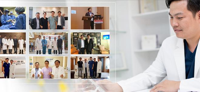 Bác sĩ Phùng Mạnh Cường cùng đội ngũ bác sĩ là thành viên trong Hiệp hội PTTM Hàn Quốc