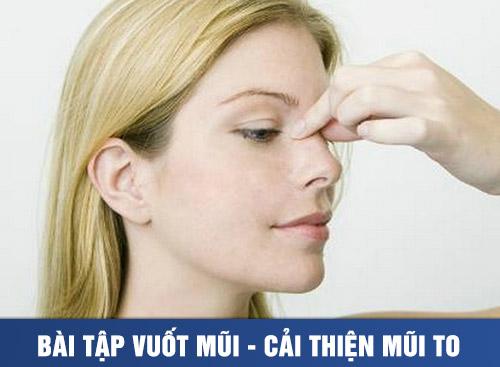 Bài tập vuốt mũi - cải thiện mũi to