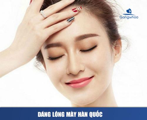 Dáng lông mày phát tài Hàn Quốc