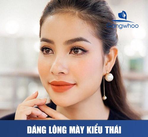 Dáng lông mày phát tài kiểu Thái
