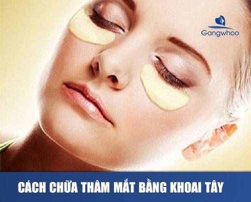 cách trị thâm mắt hiệu quả nhất bằng khoai tây