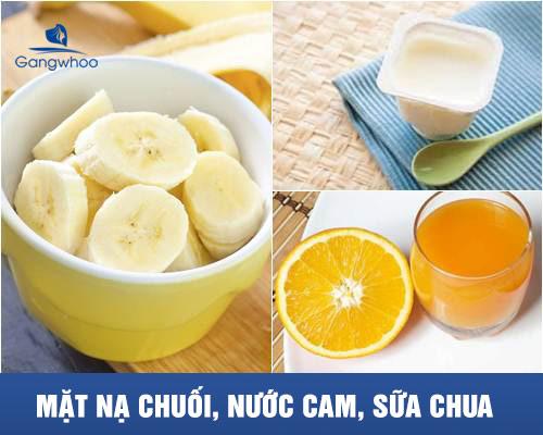 mặt nạ chuối, nước cam và sữa chua giúp giảm nếp nhăn