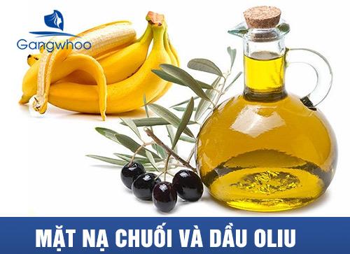 mặt nạ chuối và dầu oliu giúp giảm quá trình lão hóa da