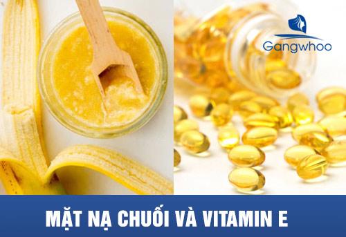 Mặt nạ chuối và vitamin E cung cấp độ ẩm cho da