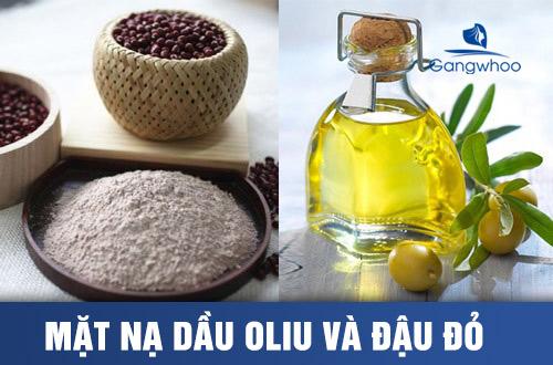 Mặt nạ dầu oliu và đậu đỏ giúp tẩy da chết