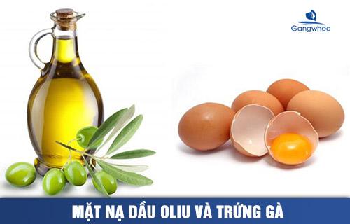 mặt nạ dầu oliu và trứng gà giúp trẻ hóa làn da
