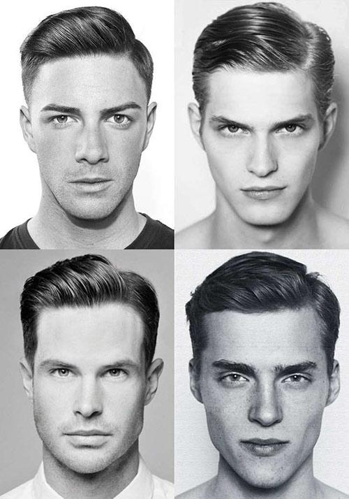 Kiểu tóc cho nam mũi to: kiểu tóc Classic Side Part