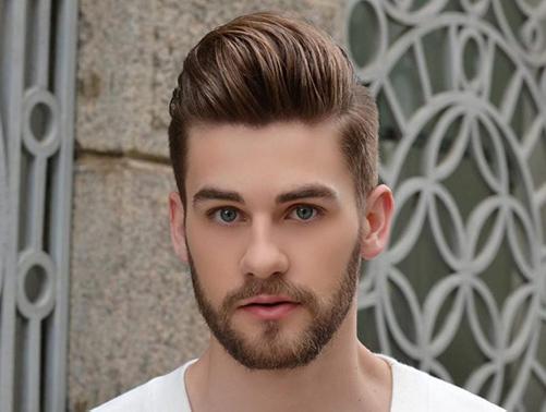 Nam mũi tẹt nên để kiểu tóc nào? tóc Quiff vuốt ngược ra sau