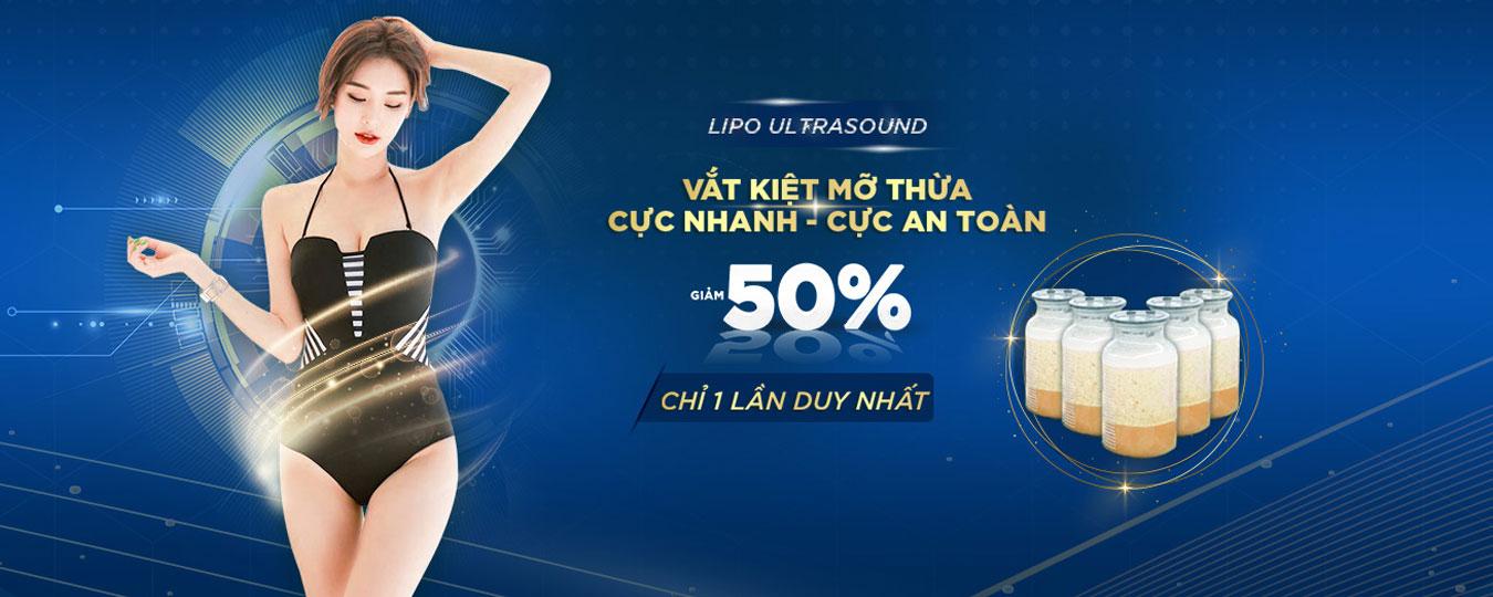 Ưu đãi giảm giá lipo ultrasound chi có 10tr