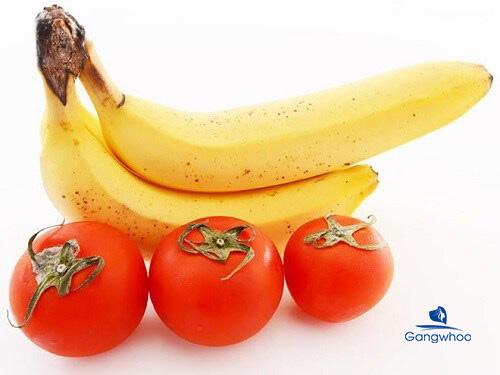 Giảm cân bằng cà chua và chuối