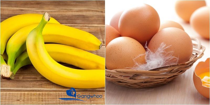 Thực đơn giảm cân với trứng và chuối