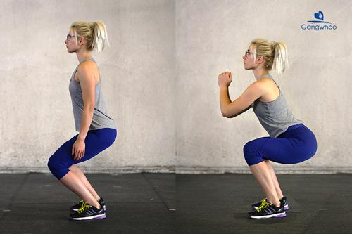 tập squat giúp gia tăng kích thước vòng 3