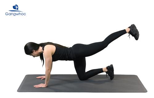 Luyện tập thường xuyên bent leg cross raises gia tăng kích thước vòng 3