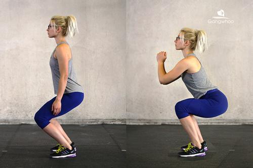 tư thế squat chuẩn