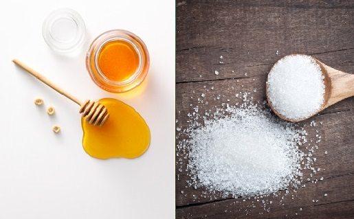 Cách triệt lông mặt với đường và mật ong