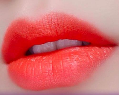 Bảng Màu Phun Môi - đỏ cam