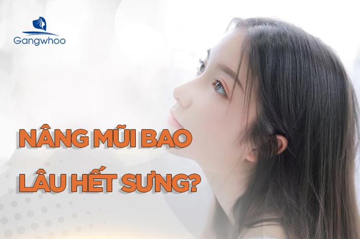 Nâng mũi bao lâu thì hết sưng?